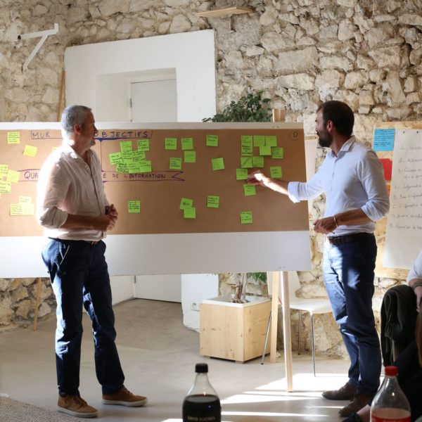 services entreprises, conseil et accompagnement, atelier intelligence collective, design thinking,