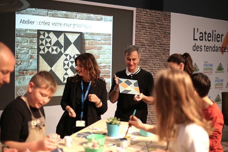 creer votre mur graphique, Safim, peinture, Kontrast, enfants, creatif, atelier, evenement, peindre,