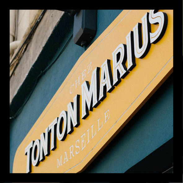 Tonton Marius, make it marseille_signaletique exterieur, enseigne, decoupe laser, CNC