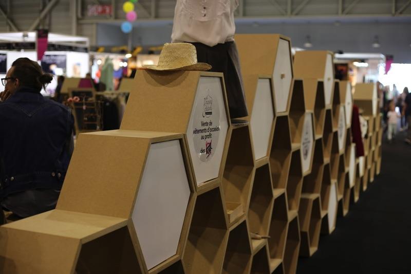 prototypage et usinage, production stand evenementiel dressing solidaire foire de marseille make it marseille